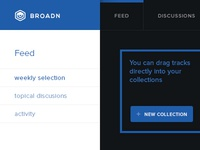 Broadn, Collections Dropdown Menu