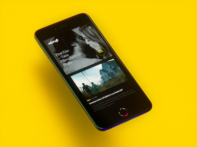 Adcraft Homepage (Mobile) mockup feed articles homepage blog interface ui design mobile design