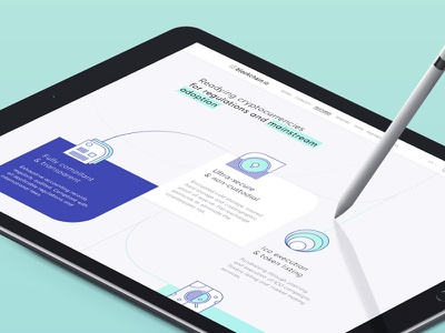 Blockchain.io Features Section icons blockchain crypocurrency landing homepage ui design web design interface bitcoin ico ethereum