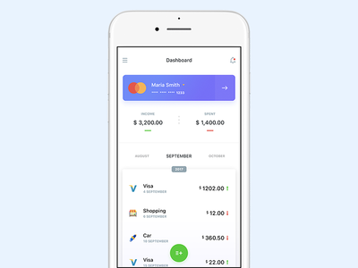 Payment counter design iphone cards payment ios flat white ux ui