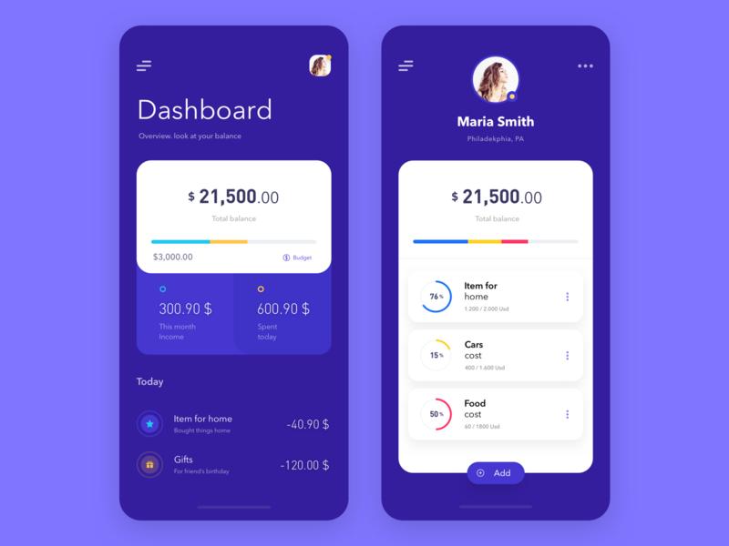 Purple Wallet ux ui payment mobile finance dashbaord currency crypto currency crypto wallet