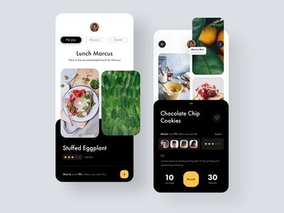 Cooking Recipe App social network media ux ui restaurant recipe foodie food app food cuisine cooking app cooking chef