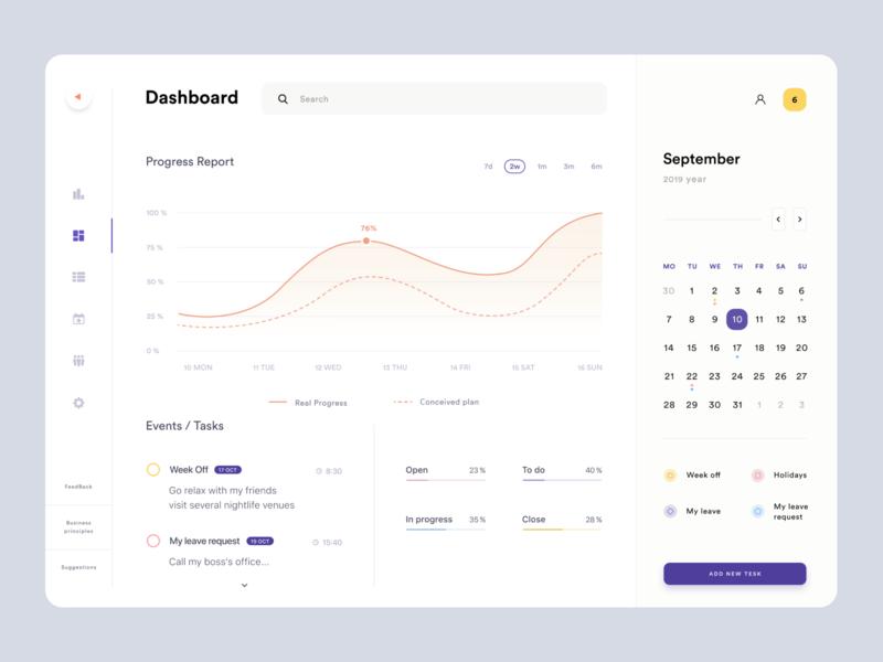 Dashboard ux ui timeline schedule management crm calendar product design web design platform graphics dashboard