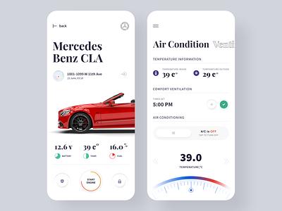 Car App 🚘 ux ui product mercedes automative interface hyper lab car auto