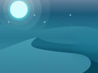 Desert Illustration for Spiritual App