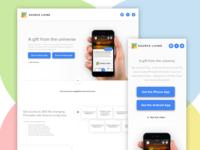 Landing Page for Spiritual App