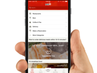 Concept - On-Demand Food Feature In Yelp