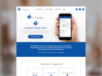 Fit Together App Landing Page