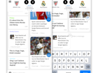 Concept: Combine Sports News With Sports Chatting