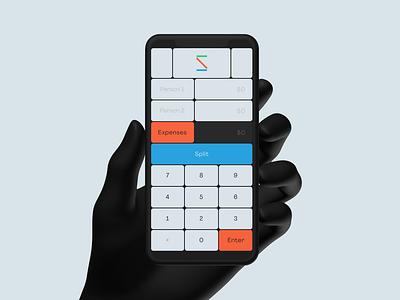 Splitfair minimalism app ui