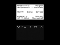 ofcina.co — business card