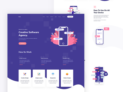 App Landing Page product search shop dashboard chart graph design graphics illustration ui ux web clean design digital listing marketing website home homes landing page 2d 3d illustration typography graphics vector marketing ios android ui ux website web design template
