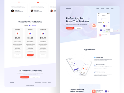 App Landing Page company corporate application dashboard b2b cryptocurrency product ecommerce saas new trend typography android vector concept ui ux mvp ios user interface experience minimal web illustration pixeleton team oreo popular trending modern agency website template app landing page design