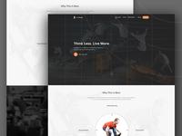 Skateboard Landing Page Design