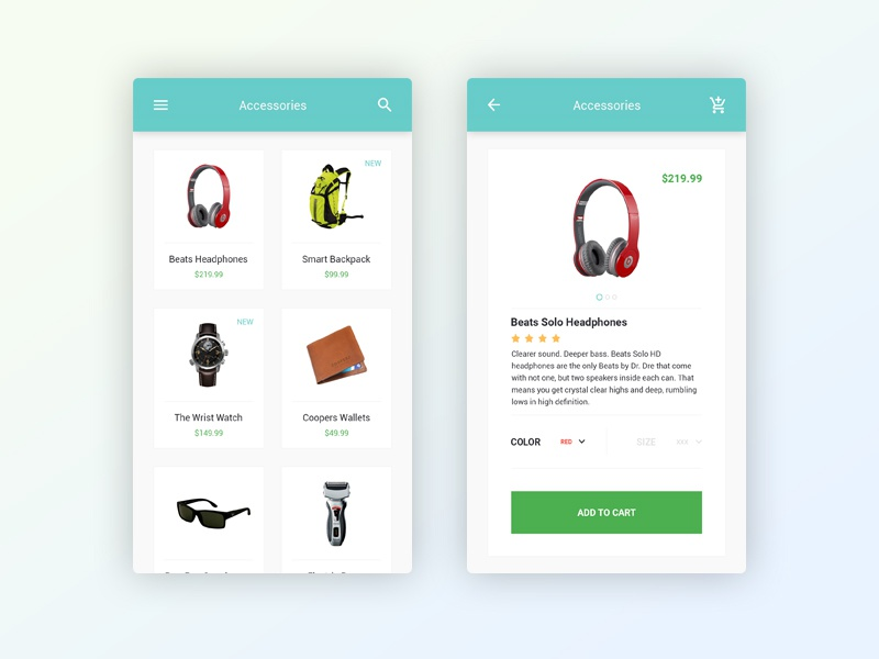 Themeunix e commerce mobile app by ahmed nayef for E commerce mobili