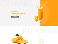 Orange juice landing page