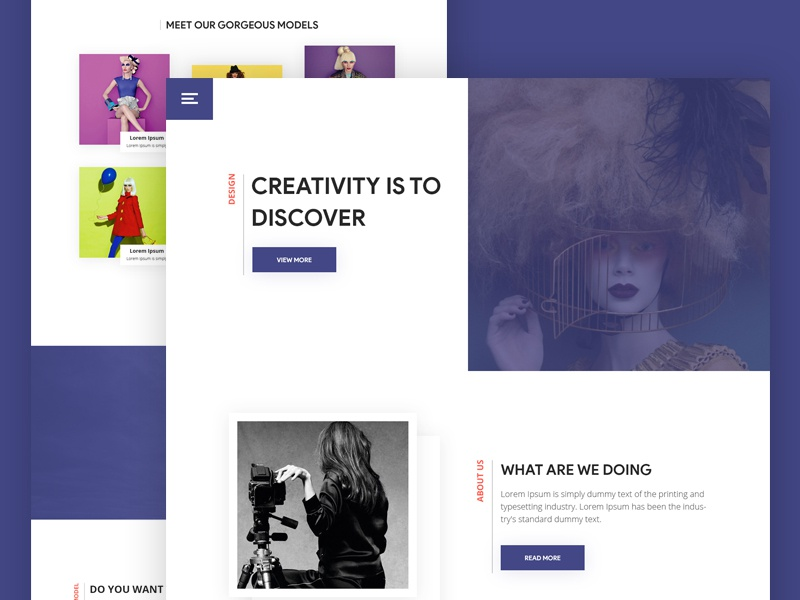 Agency Landing Page landing page visual ux ui typography template google gmail design color creative agency