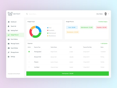 Dashboard : Event Manager landing page event manager white graph charts illustration ux ui design minimal clean dashboard