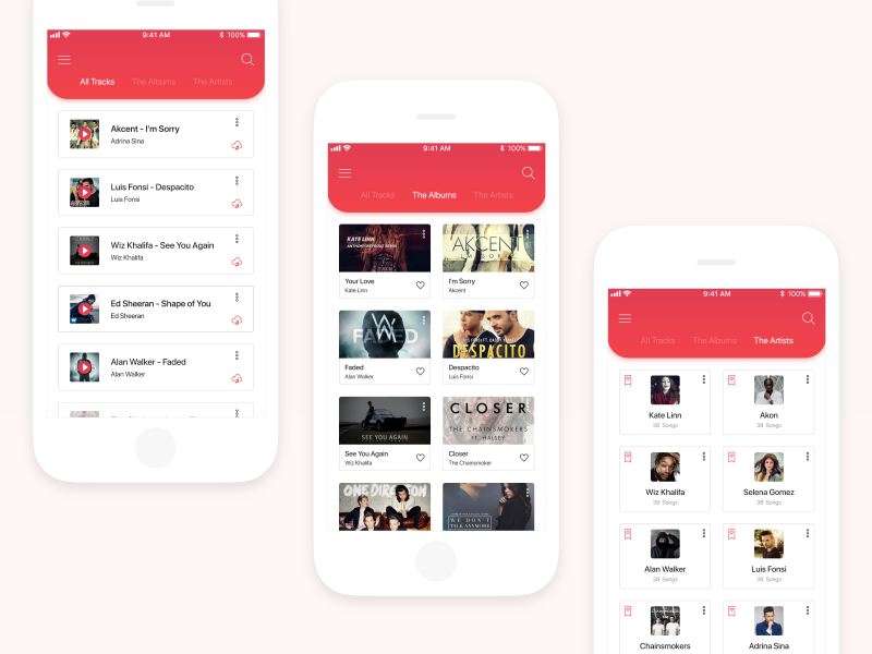 Flames Music App : iOS UI Kit iphone illustration dribbble best shots player profile music mobile music app ux ui app ios