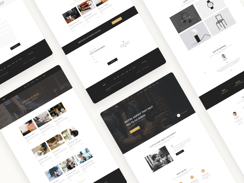 ZIMU : Agency Web Template agency landing page ecommerce app landing page template popular shots website web app minimal modern design colorful trendy