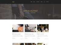 Agency landing page  blog page