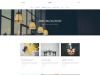 E commerce landing page  blog page