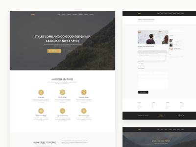 ZIMU : App Landing Page
