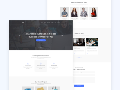 ZIMU : Agency Web Template
