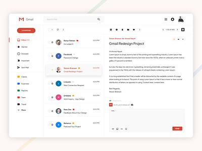 Gmail Redesign Challenge ux ui inbox conversation cloud google gmail desktop product message email app