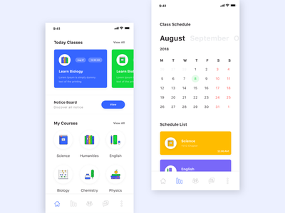 Education App Exploration class blog iphone x s r schedule event todo product branding landing new trend google learning list clean kit calendar icon course online ecommerce design agency school android material card popular typography ios minimal color trendy education app ui ux