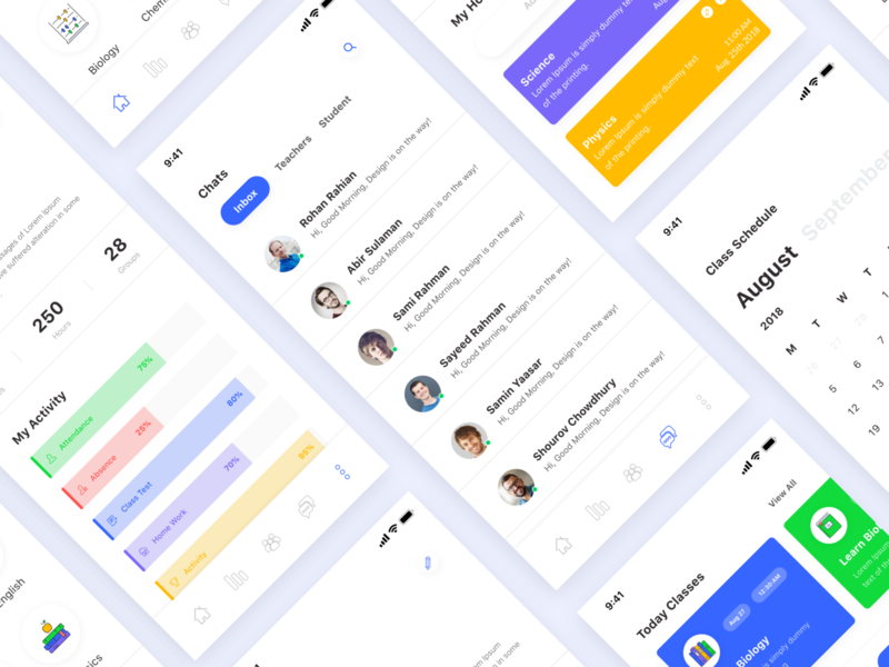 Education App Exploration learn list content homaepage landingpage webapp messageapp chatbot social result search chat discover ios11 design academic degree collage ios ui kit material ui kit app course onlinecourses iphone xs xr android ios dashboard
