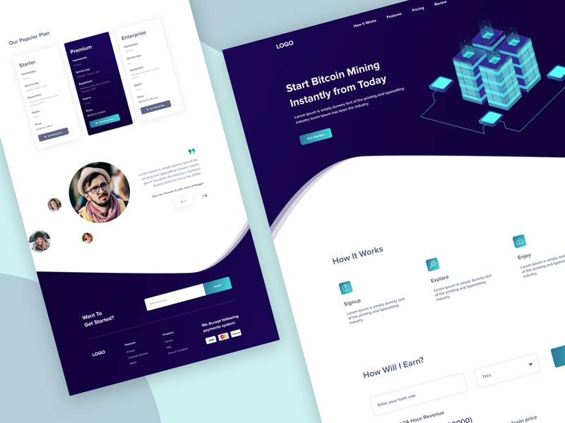 Homepage - Bitcoin Mining Website user interface design user experience vector popular product illustration homepage concept trend website landing page template clean typography event app ios android cryptocoin currency ico bitcoin services coins isometric illustration truck mining site crypto bitcoin blockchain ethereum