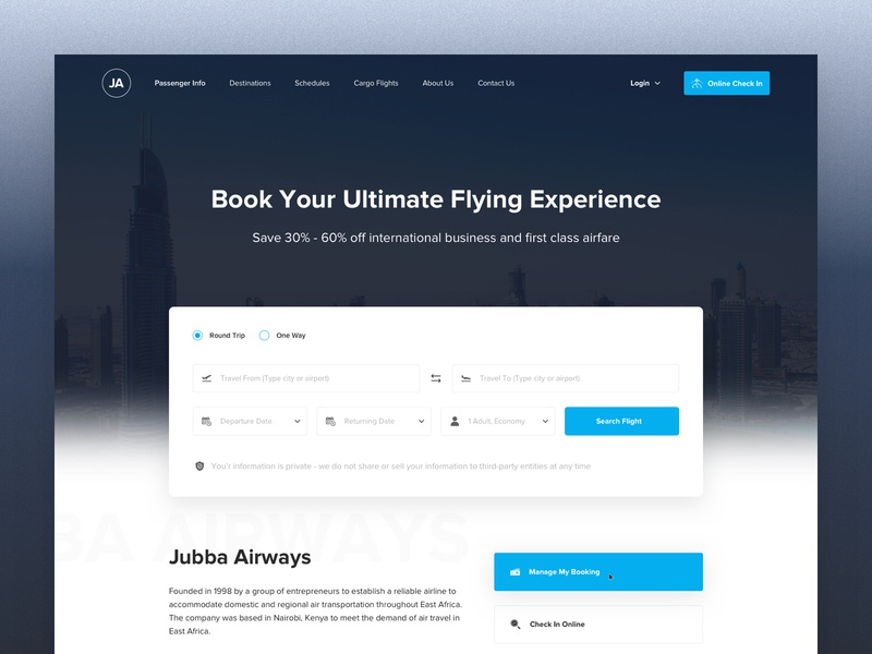 Jubba Airways: Home Page