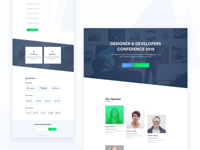 Event Landing Page freebie sketch xd figma typography graphic icon finance banking education popular trending new trend corporate meeting app blockchain crypto agency b2b saas experience ux user interface ui illustration vector minimal website conference seminar web template design event landing page