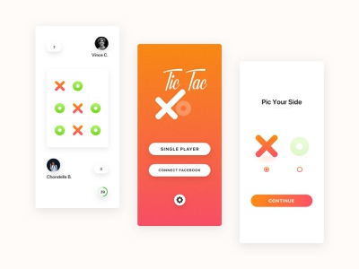 Game Concept : Tic Tac job search recruitment app design designer education school gamezone brand branding identity 2019 creative layout icon concept typography flat illustration vector clean minimal modern project ui ux product game interface android ios mobile app design application