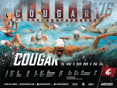 '16-17 Cougars Swimming Schedule Poster