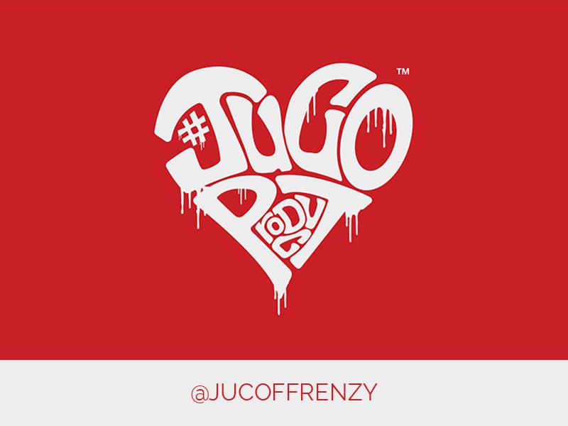 Juco FB Frenzy Logo heart sports football logo