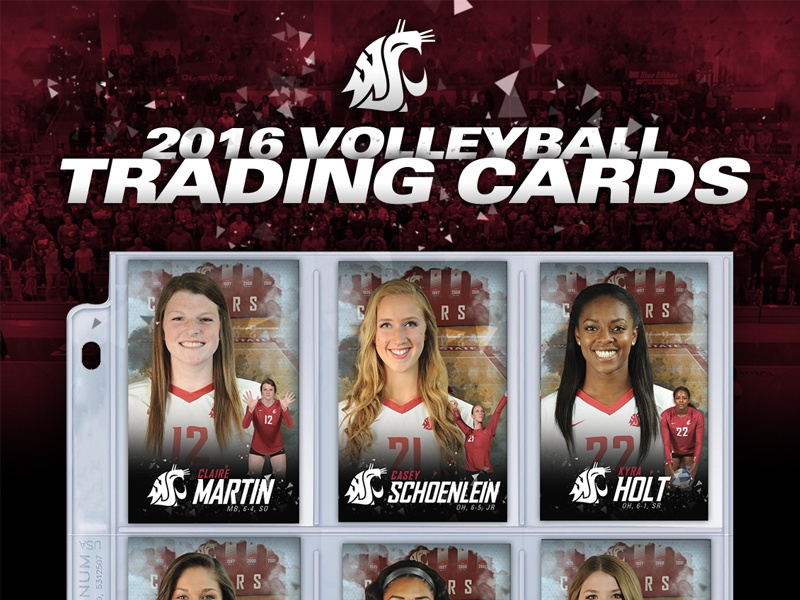 '16 Washington State Volleyball Trading Cards sports pac12 ncaa trading cards volleyball