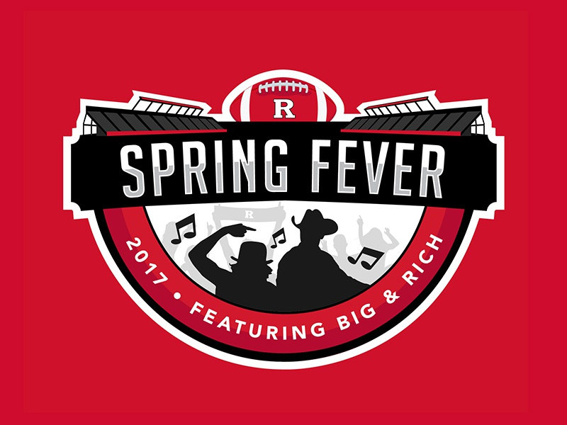 Rutgers Spring Fever Logo concert event sports logo fever spring