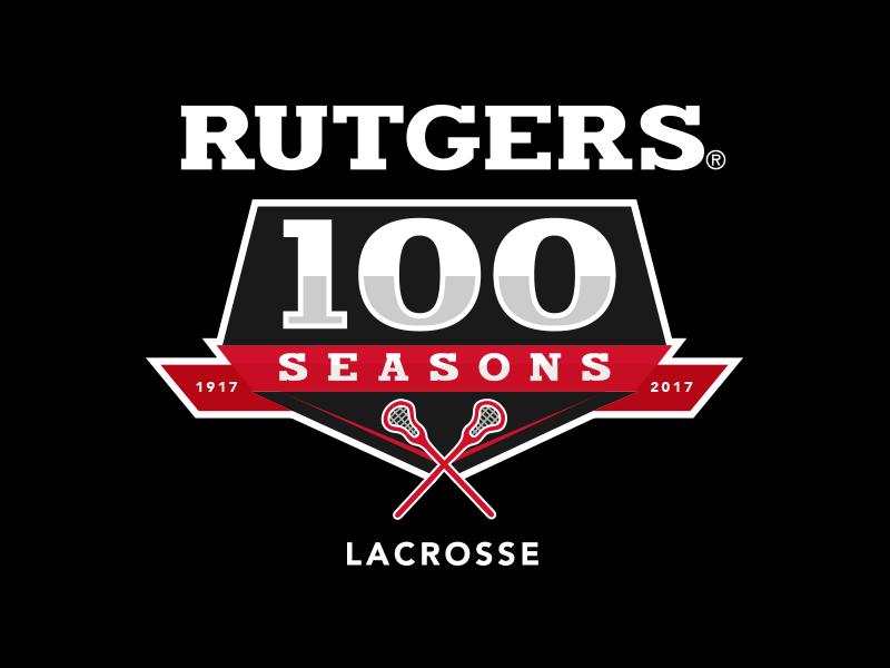 Rutgers MLAX 100 Seasons Logo lax logo lacrosse rutgers