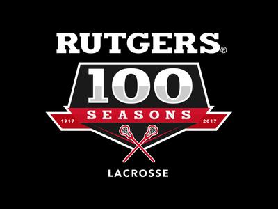 Rutgers MLAX 100 Seasons Logo