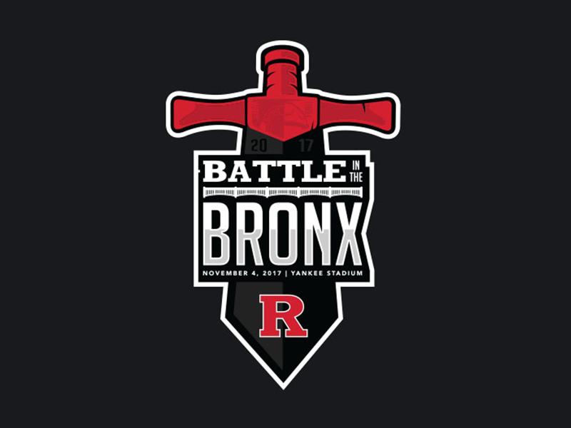 Rutgers Battle in the Bronx Logo sports logo yankees rutgers bronx
