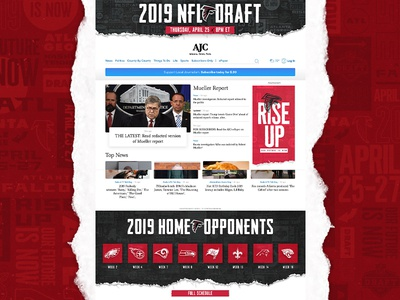 '19 Falcons NFL Draft AJC Takeover