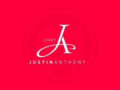 Chef Justin Anthony logo monogram chef