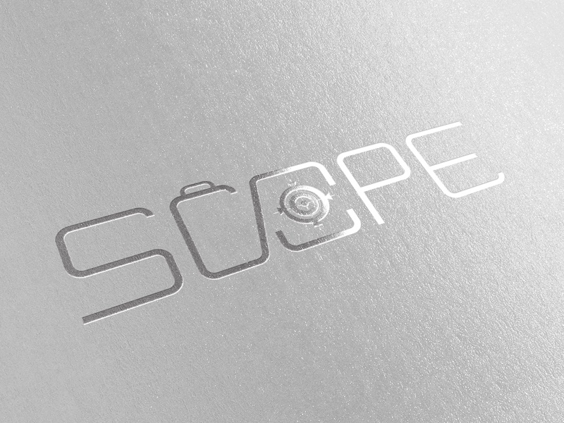 Scope Logomark (2017) logo production camera video scope