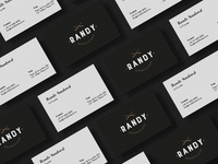 Business cards Randy Barber shop