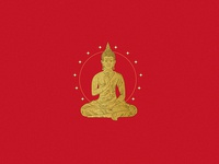 Golden Budha  Illustration