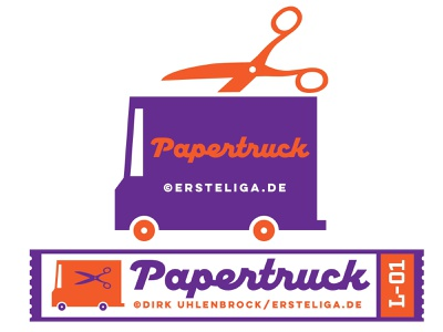 Papertruck print illustration