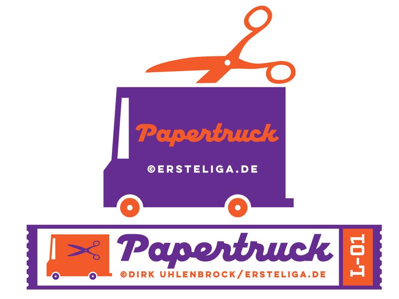 Papertruck print illustration