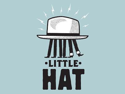 little hat print gig poster illustration